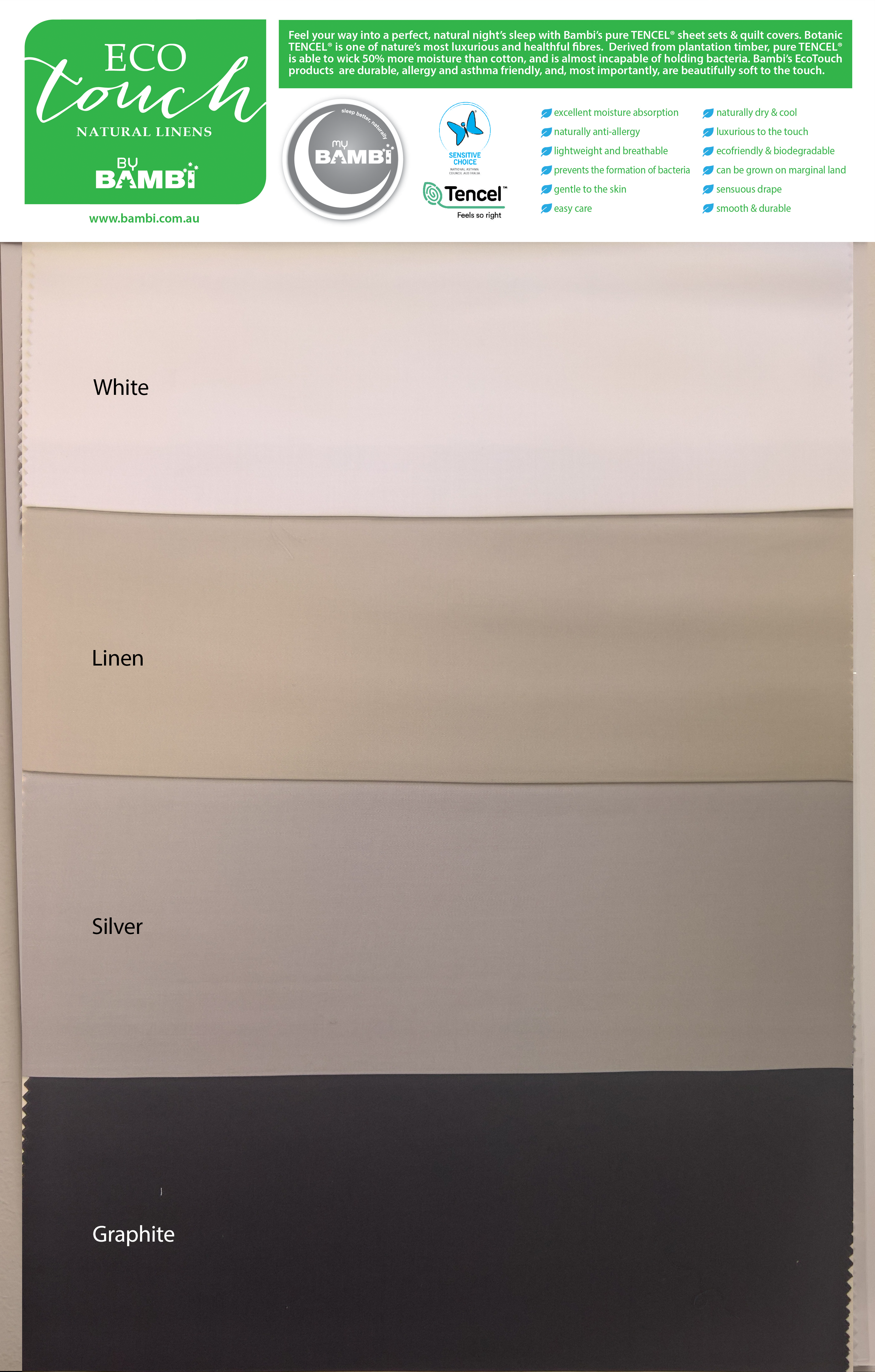 Tencel® Touch SHEETS -Silver