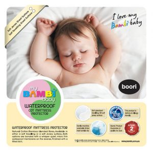 Cotton/Bamboo Waterproof Cot Mattress Protector – Stretch Knit